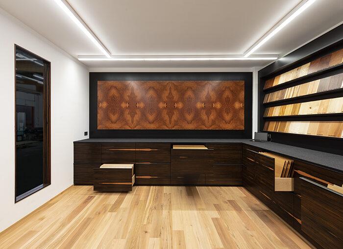 Furnier Ausstellungsraum