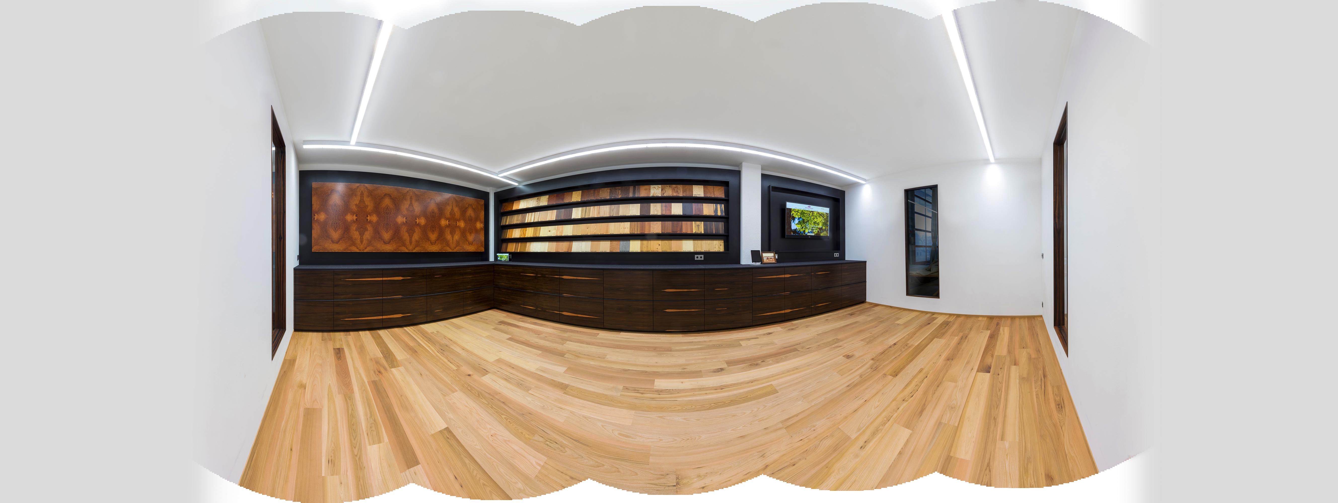 Furnier Ausstellungsraum 360°